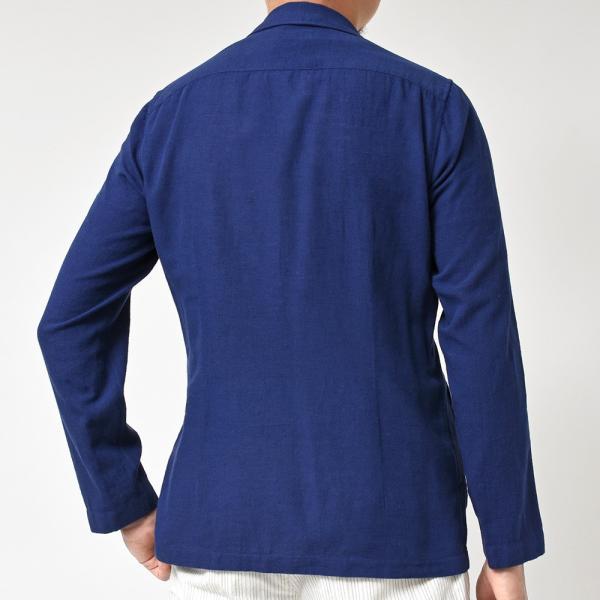LARDINI(ラルディーニ)コットン リネン シングル2Bシャツジャケット realclothing 05