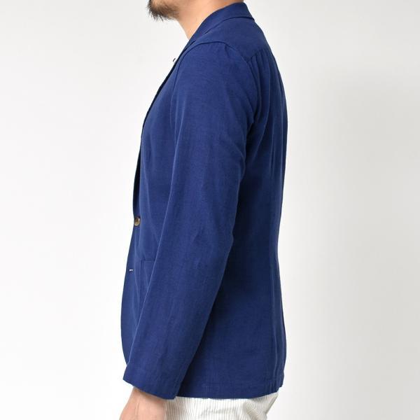 LARDINI(ラルディーニ)コットン リネン シングル2Bシャツジャケット realclothing 06