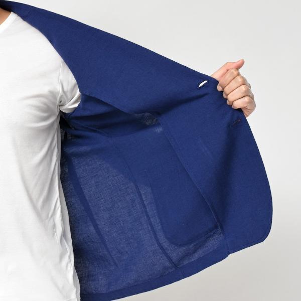 LARDINI(ラルディーニ)コットン リネン シングル2Bシャツジャケット realclothing 07