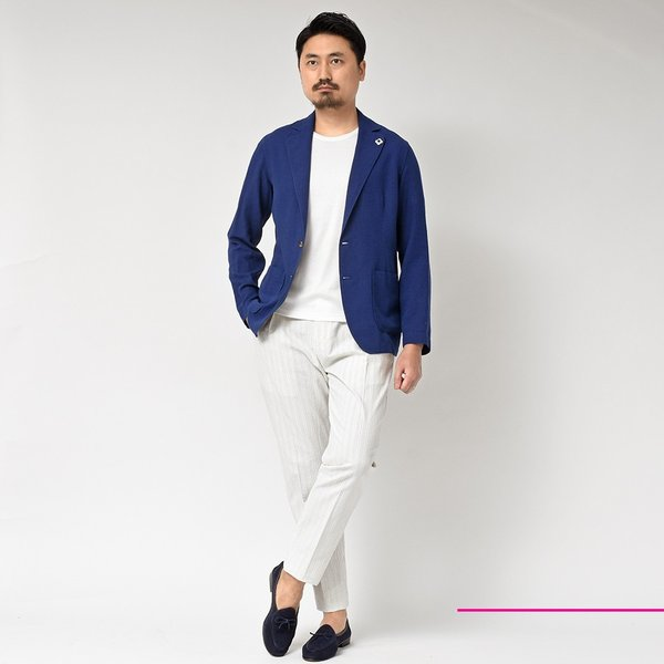 LARDINI(ラルディーニ)コットン リネン シングル2Bシャツジャケット realclothing 10