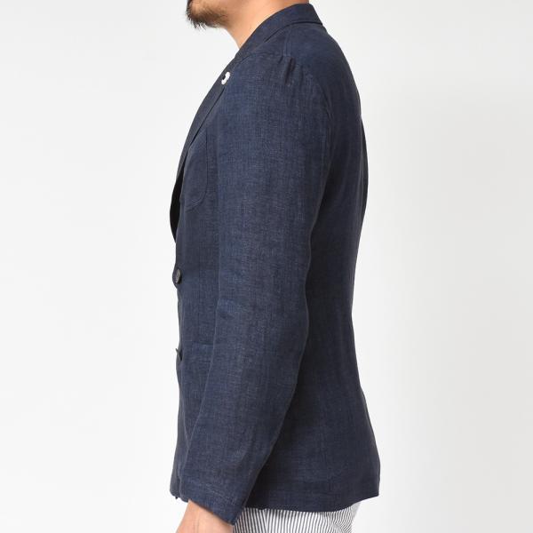 LARDINI(ラルディーニ)リネン メランジ ダブル4Bシャツジャケット|realclothing|06