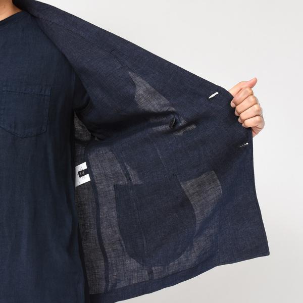 LARDINI(ラルディーニ)リネン メランジ ダブル4Bシャツジャケット|realclothing|07