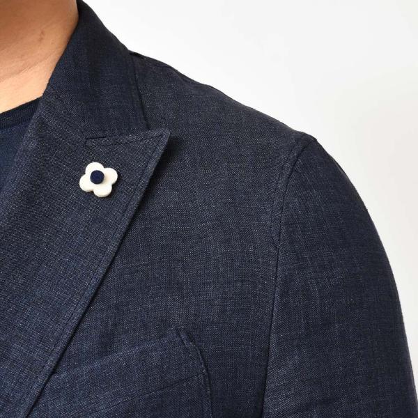 LARDINI(ラルディーニ)リネン メランジ ダブル4Bシャツジャケット|realclothing|08