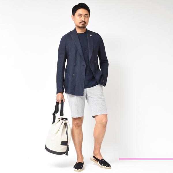 LARDINI(ラルディーニ)リネン メランジ ダブル4Bシャツジャケット|realclothing|10