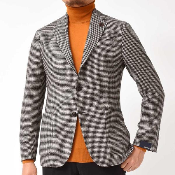 LARDINI(ラルディーニ)EASY ラムズウール ハウンドトゥース シングル3Bジャケット|realclothing|04