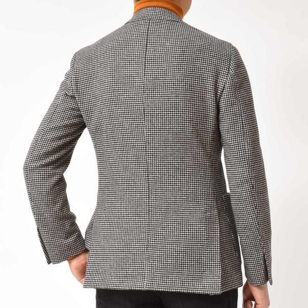 LARDINI(ラルディーニ)EASY ラムズウール ハウンドトゥース シングル3Bジャケット|realclothing|05