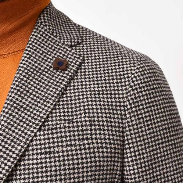 LARDINI(ラルディーニ)EASY ラムズウール ハウンドトゥース シングル3Bジャケット|realclothing|08