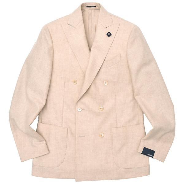 LARDINI(ラルディーニ)ラムズウール ホップサック ダブル6Bジャケット|realclothing
