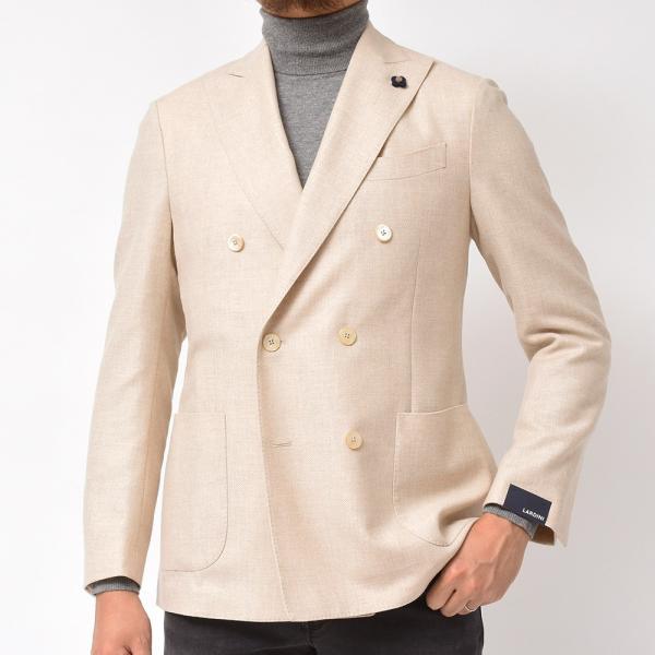 LARDINI(ラルディーニ)ラムズウール ホップサック ダブル6Bジャケット|realclothing|04