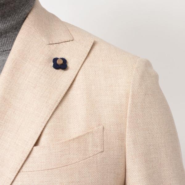LARDINI(ラルディーニ)ラムズウール ホップサック ダブル6Bジャケット|realclothing|08