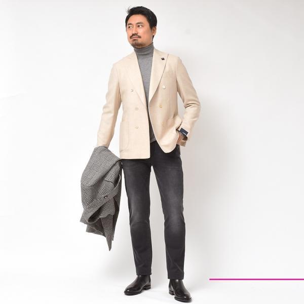 LARDINI(ラルディーニ)ラムズウール ホップサック ダブル6Bジャケット|realclothing|10