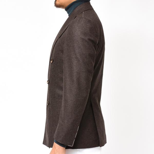 Stile Latino(スティレ ラティーノ)ウール フランネル メランジ ダブル6Bジャケット realclothing 06