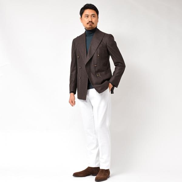 Stile Latino(スティレ ラティーノ)ウール フランネル メランジ ダブル6Bジャケット realclothing 10
