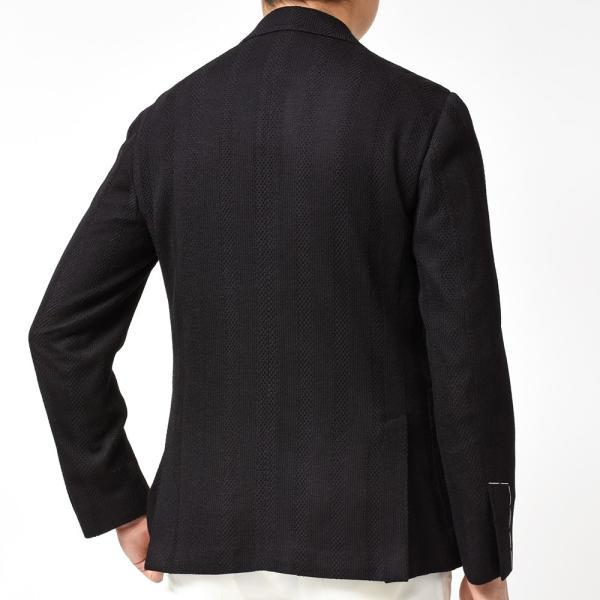 LARDINI ラルディーニLIKNIT ライクニット ウール ポリエステル ストライプ シングル3Bニットジャケット|realclothing|04