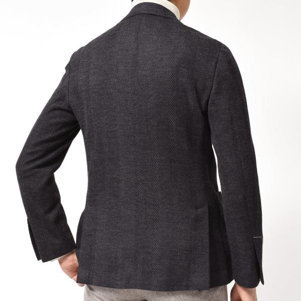 LARDINI ラルディーニLIKNIT ライクニット ウール ポリエステル ストライプ シングル3Bニットジャケット|realclothing|10