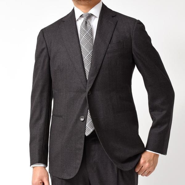 Stile Latino スティレ ラティーノ ヴァージンウール メランジ グレンチェック 1プリーツ シングル3Bスーツ|realclothing|03