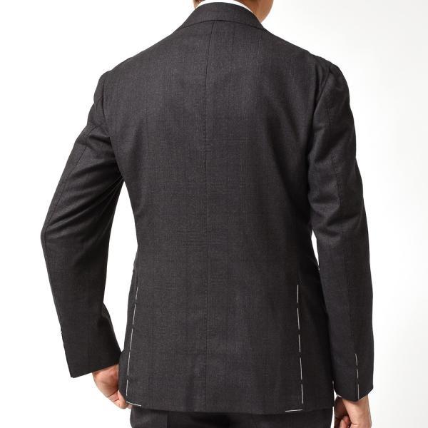 Stile Latino スティレ ラティーノ ヴァージンウール メランジ グレンチェック 1プリーツ シングル3Bスーツ|realclothing|04