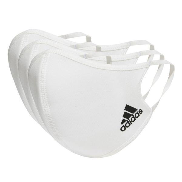 adidasアディダスKOH81H34578フェイスカバーマスク3枚組(M/L相当)ホワイト大人サイズレアルスポーツ
