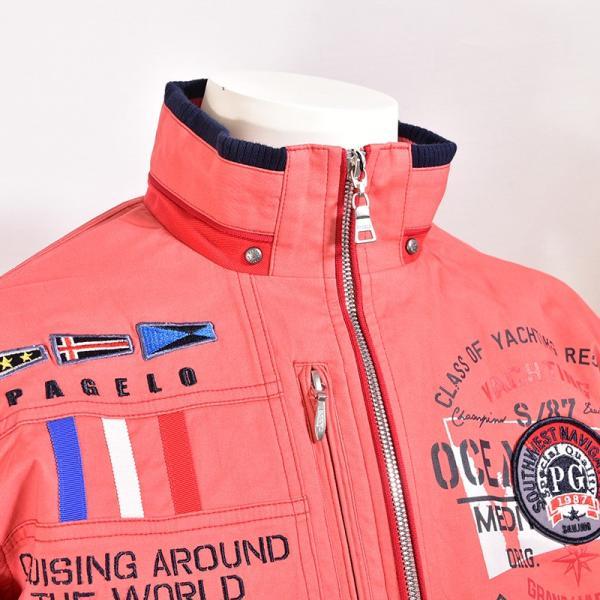パジェロ PAGELO 長袖 ブルゾン メンズ 2020春夏 ボーダー ロゴ 01-3112-07|realtree|11