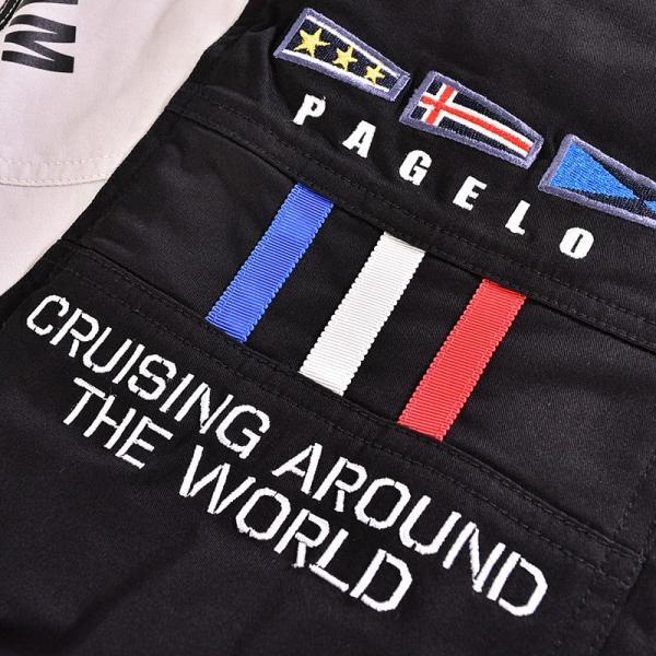 パジェロ PAGELO 長袖 ブルゾン メンズ 2020春夏 ボーダー ロゴ 01-3112-07|realtree|08