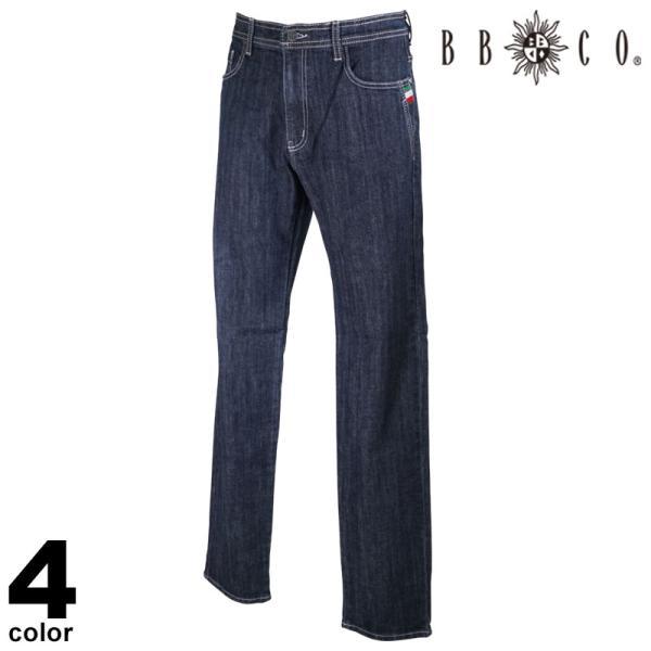 BBCO ビビコ デニムパンツ メンズ 秋冬 ストレート ステッチ ロゴ 刺繍 17-5302-12