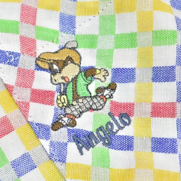 アウトレット アンジェロガルバス ANGELO GARBASUS ボタンダウンシャツ半袖 チェック柄 総柄 ワッペン 派手 薄手 63-2162-03-01|realtree|05