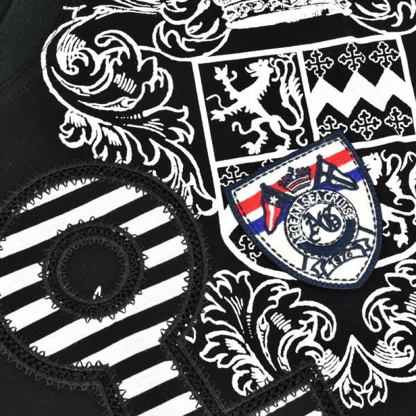 アウトレット ANGELO GARBASUS アンジェロガルバス 半袖カットソー 薄手 プリント イカリマーク ロゴアップリケ 73-2502-03-05|realtree|05