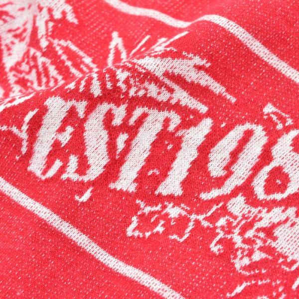 アウトレット PAGELO パジェロ  上下セット メンズ 春夏 半袖 半ズボン ハイビスカス柄 ロゴ 刺繍 ハーフジップ 73-6321-07-65|realtree|05