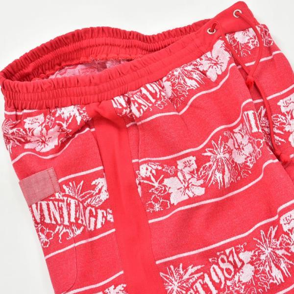 アウトレット PAGELO パジェロ  上下セット メンズ 春夏 半袖 半ズボン ハイビスカス柄 ロゴ 刺繍 ハーフジップ 73-6321-07-65|realtree|06