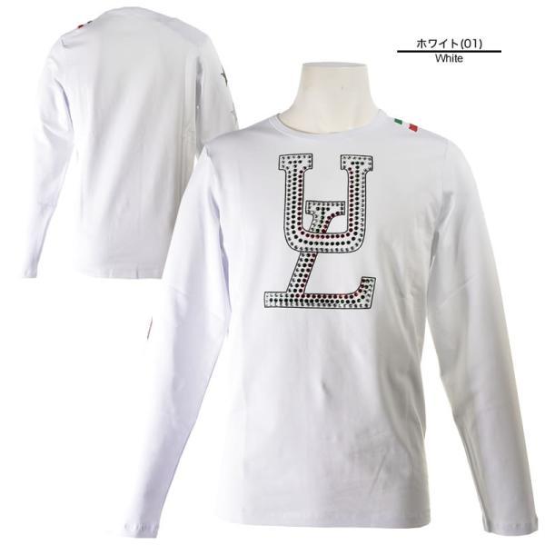 SALE 30%OFF ウザリス USUALIS 長袖Tシャツ メンズ 春夏 ストレッチ ロゴ スター ラインストーン 91-1502-60|realtree|02