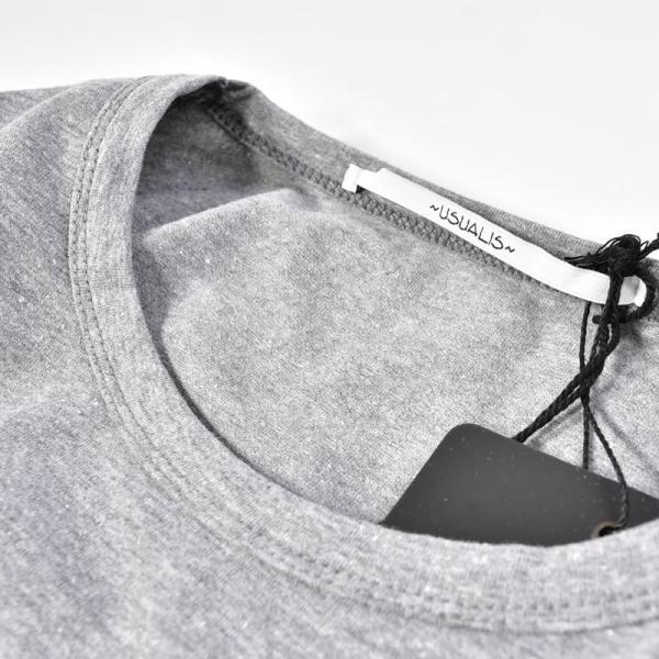 SALE 30%OFF ウザリス USUALIS 長袖Tシャツ メンズ 春夏 ストレッチ 袖プリント 人物 ラインストーン 91-1505-60|realtree|12