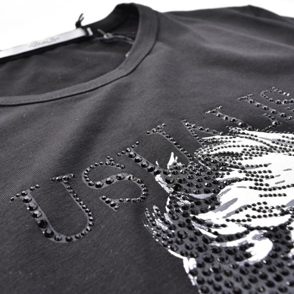 SALE 30%OFF ウザリス USUALIS 長袖Tシャツ メンズ 春夏 ストレッチ 袖プリント 人物 ラインストーン 91-1505-60|realtree|10