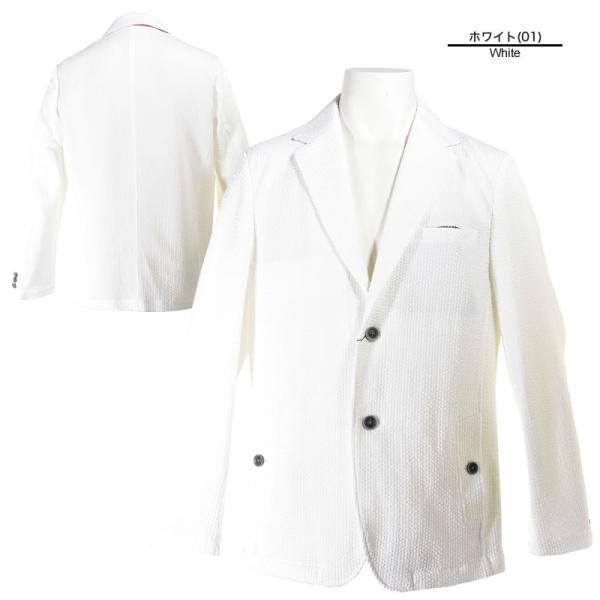 パジェロ PAGELO テーラードジャケット メンズ 2020春夏 シアサッカー 背抜き 03-4101-07c realtree 02