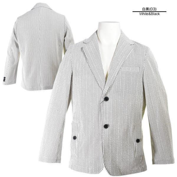 パジェロ PAGELO テーラードジャケット メンズ 2020春夏 シアサッカー 背抜き 03-4101-07c realtree 03