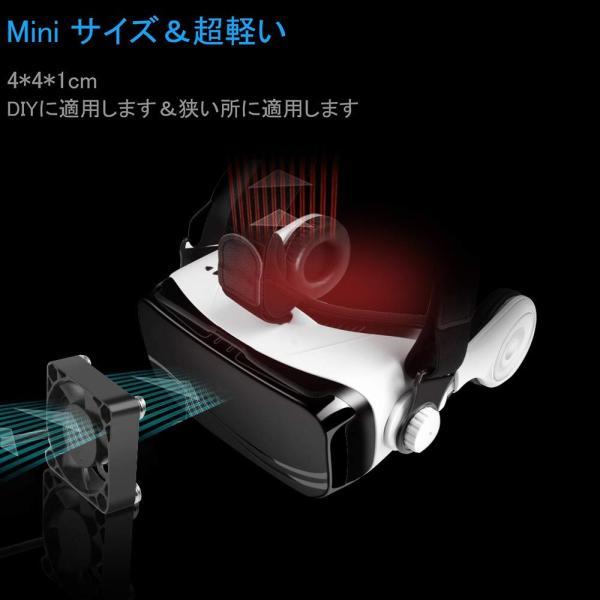 ELUTENG ファン 40mm 静音 USB 扇風機 小型 卓上 5500RPM CPUクーラー 冷却 4cm ミニ 送風機 強力 サイレ