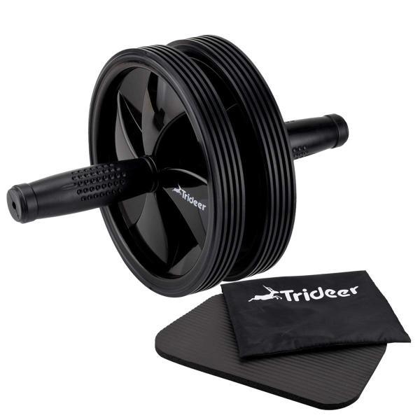 Trideer 腹筋ローラー マット付き アブローラー 300KG耐重 超静音 アブホイール 軽量 収納便利 エクササイズローラー トレーニ|reap|04