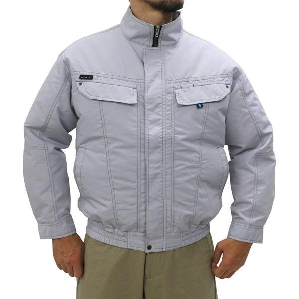 アジト 空調服 長袖 服のみ 単品 ファン無 作業服 ブルゾン ライトグレー L|reap|05