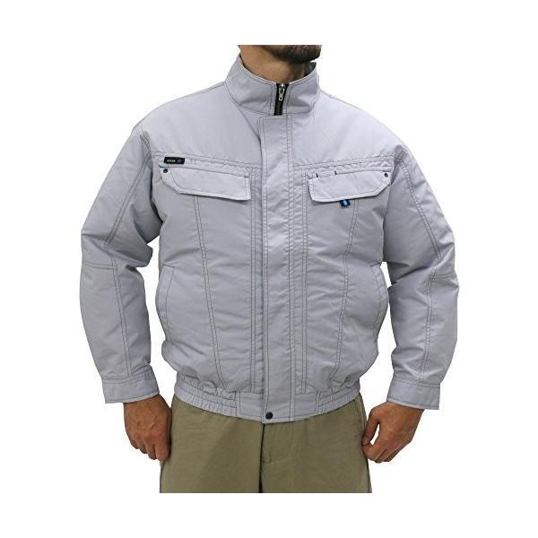 アジト 空調服 長袖 服のみ 単品 ファン無 作業服 ブルゾン ライトグレー L|reap|10