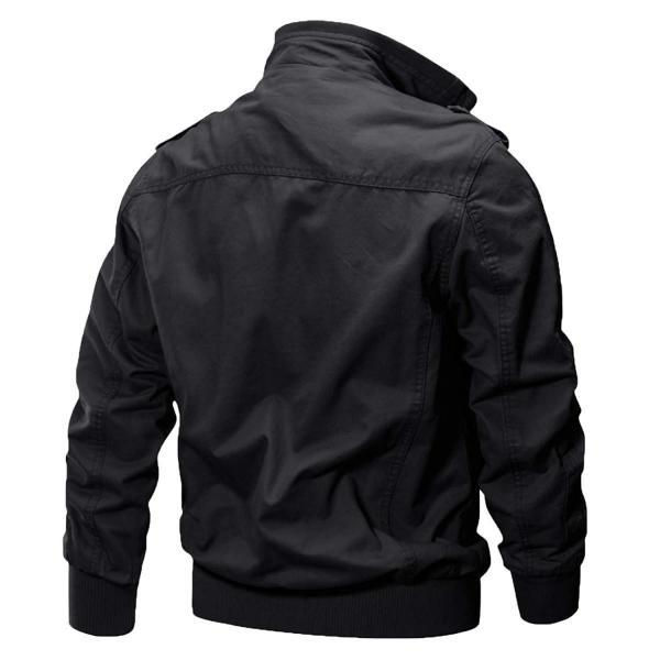 KEFITEVD 作業ジャケット メンズ アウトドア ブルゾン 保温 ライダース アメカジ 大きいサイズ おしゃれ ブラック L reap 07