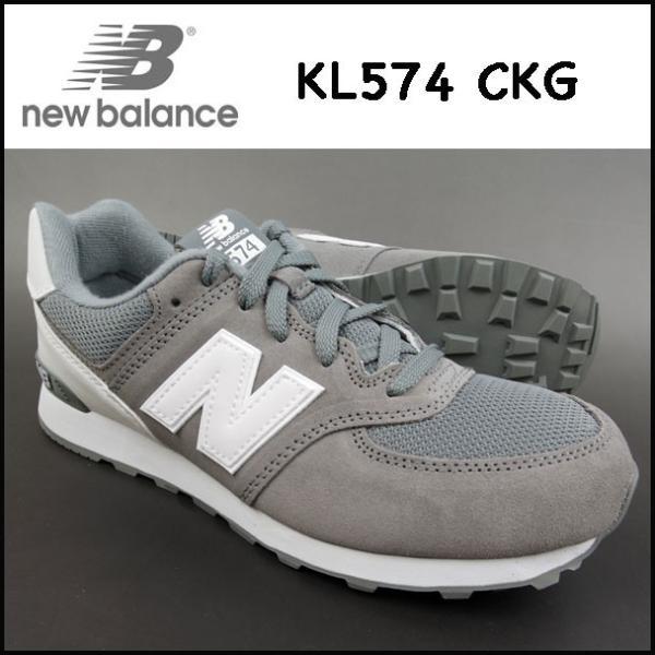 ニューバランススニーカーレディースKL574CKGNEWBALANCEグレー