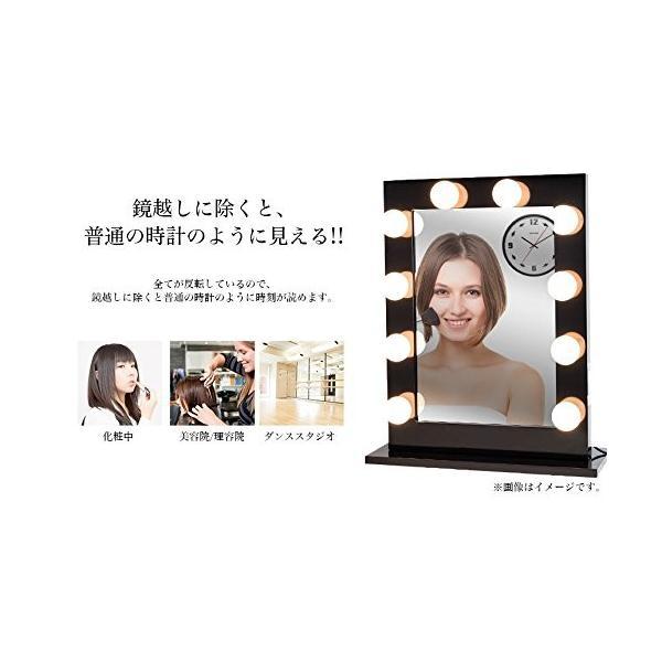 反転 壁掛け 時計 反対 逆回転 反時計回り 鏡面 鏡 逆転 メタル 金属 ウォール クロック 化粧鏡 インテリア 雑貨 シルバー NS-GYCLOCK-SV|rebias|04