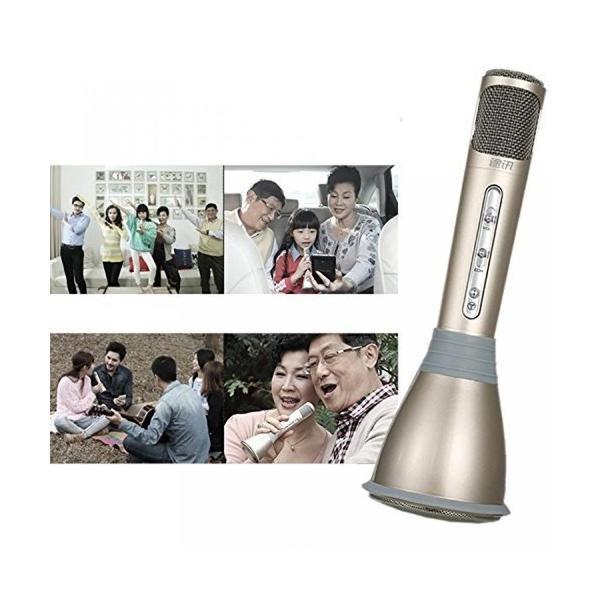 スマホ カラオケ ポータブル マイク スピーカー Bluetooth パーティー エコー NS-KARAMIC|rebias