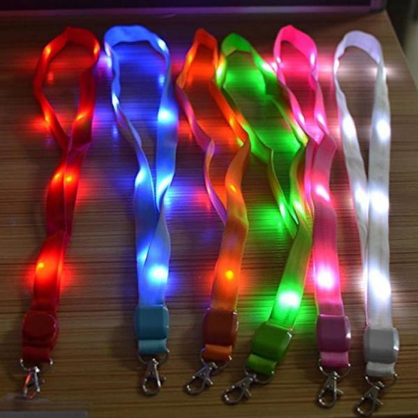 LED ネックストラップ 光る 発光 イベント ライブ コンサート パスケース ペンライト クラブ ピンク NS-LED-STRAP-PK|rebias|02