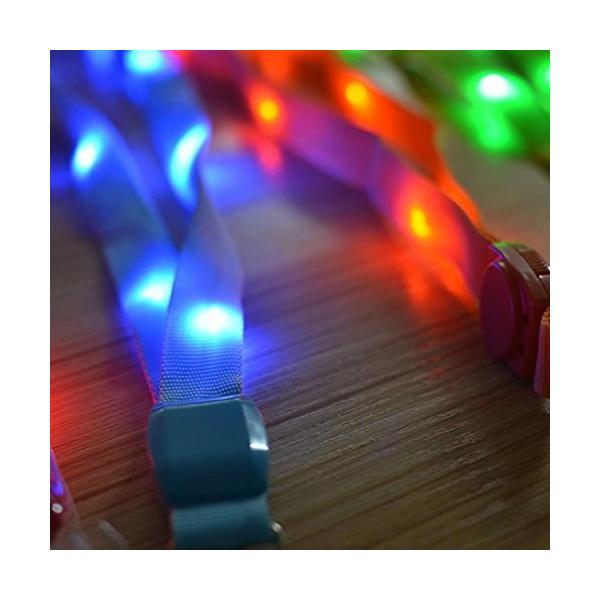 LED ネックストラップ 光る 発光 イベント ライブ コンサート パスケース ペンライト クラブ レッド NS-LED-STRAP-RD rebias