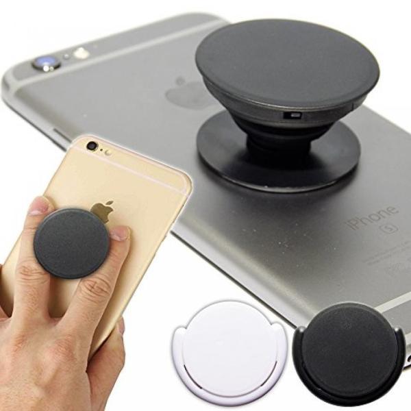 スマートフォン スマホ 落下防止 多機能 リング ポップアップ 車載ホルダー スタンド iPhone アクセサリー ブラック NS-SMAPOP-BK|rebias|02