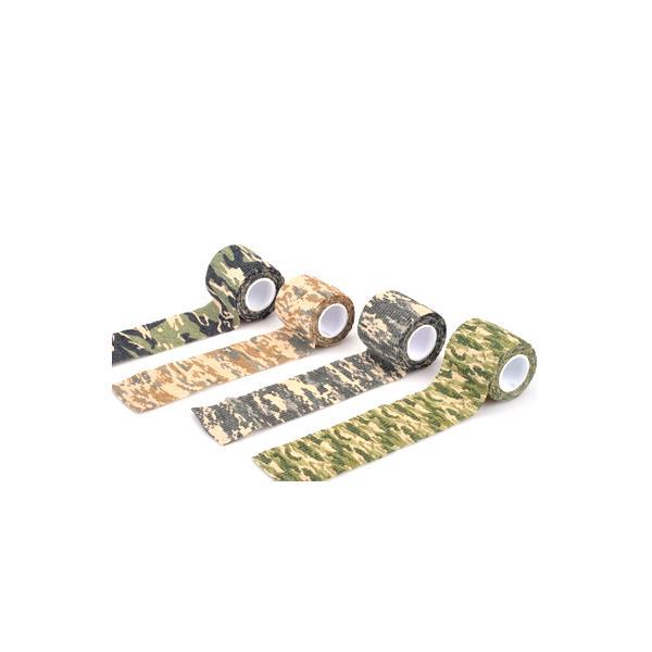 カモフラージュ テープ 迷彩 パターン 自己 粘着 自着 プリント 再利用可能 伸縮 布製 rebias