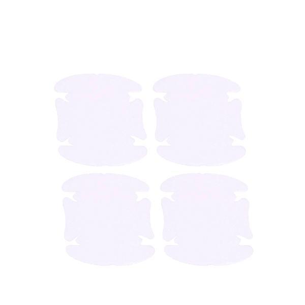 車 ドアノブ 傷防止 カー用品 カー ドア ノブ 傷 指紋 防止 爪 ひっかき傷 シール 透明 4枚セット|rebias
