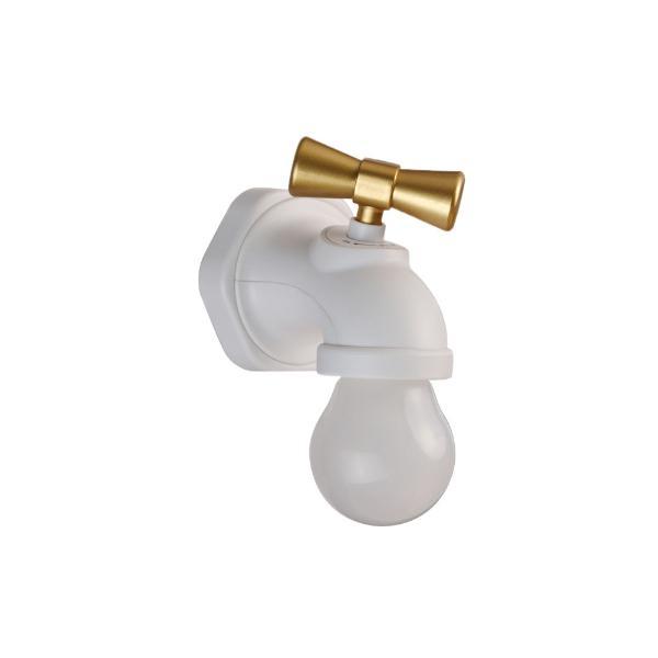 蛇口 LED ライト センサー 音 反応 自動点灯 照明 電気 USB 充電式 便利 インテリア rebias
