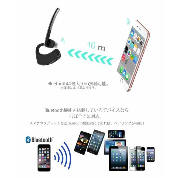 ワイヤレス ヘッドセット ブラックマン Bluetooth イヤホン 片耳 高音質 軽量 音楽 マイク内蔵 ブルートゥース Blackman|rebias|04