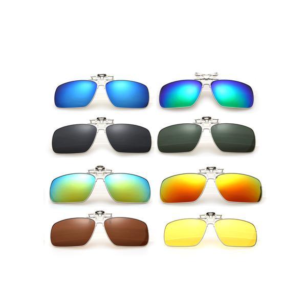サングラス 偏光 レンズ クリップオン スクエア メンズ 軽量 UVカット|rebias
